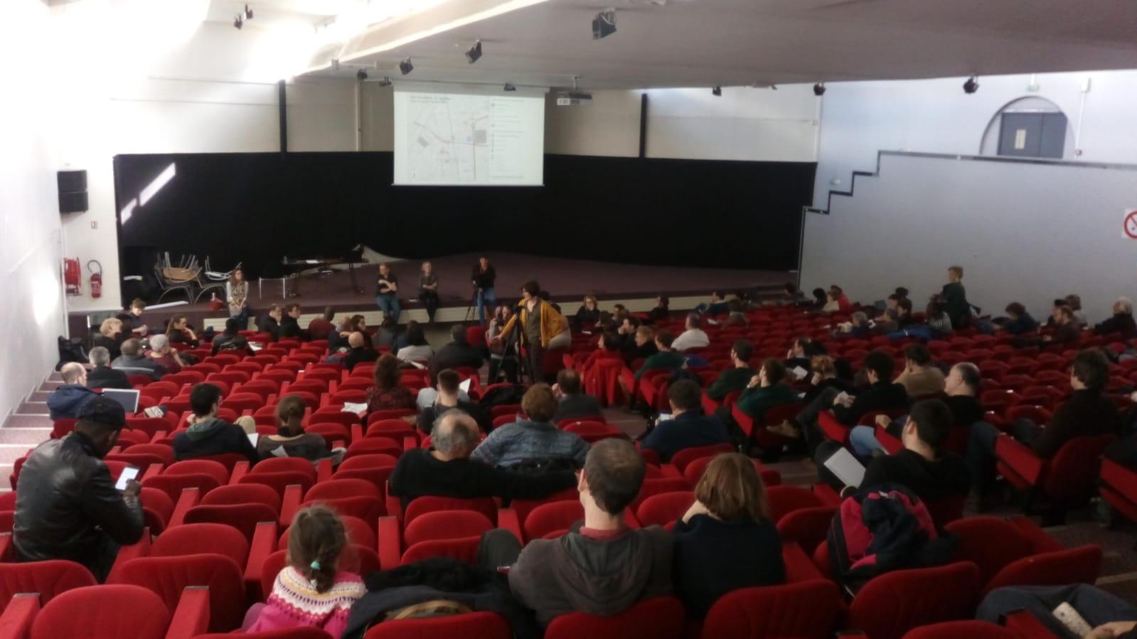 Le débat public sur les JOP 2024 a été un succès, 10 mars 2019, bourse du travail de Saint-Denis, © Marianna Kontos
