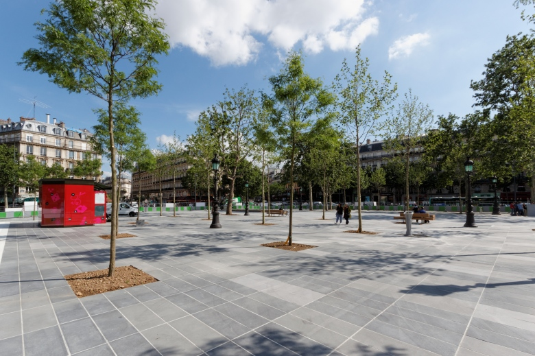 La place de la République à Paris, après son réaménagement en 2013.